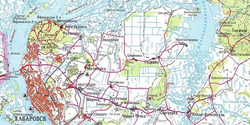 карта рыболовных мест в хабаровске