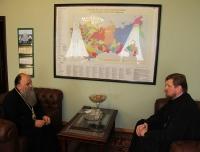 Глава Приамурской митрополии встретился с управляющим делами Московской Патриархии
