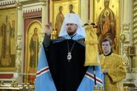 В канун Недели 19-й по Пятидесятнице правящий архиерей совершил всенощное бдение в Спасо-Преображенском кафедральном соборе