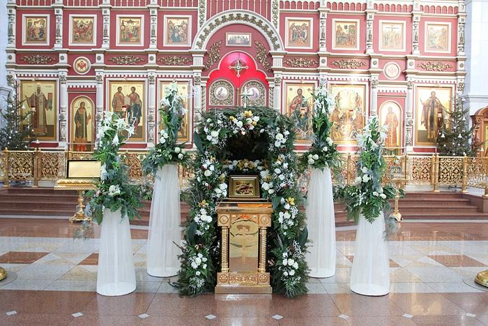 Рождественский вертеп в храм 43
